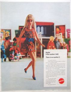 Vintage 1970 Barbie The Number One Doll Mattel Advertisement