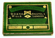 Will's 3 Castles Dummy Shop Display Flat 50 Cigarette Tobacco Tin