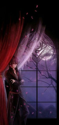 Vampire Mysteriöse Wesen, geschützt durch den Schleier der Nacht. #Vampire #Anime #Blackhair #Night #mystery #AnimeBoy
