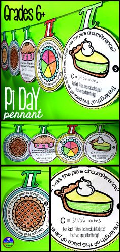 A fun way to celebrate Pi Day without losing a day of Math. Students find areas and circumferences in this pennant activity meant for younger kids. (20 pennants, answer sheet + key)