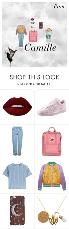 """""""My style➰✨"""" by camillefashionlove ❤ liked on Polyvore featuring Lime Crime, Puma, Topshop, Fjällräven, T By Alexander Wang, Gucci, Alice + Olivia and Black Swan"""
