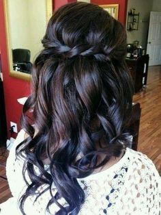 Dip Dyed Dark Brown Hair w/ Blue Tips ♡♡♡