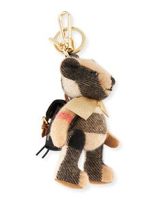 Thomas+Bear+Rucksack+Charm+for+Handbag,+Camel+by+Burberry+at+Neiman+Marcus.