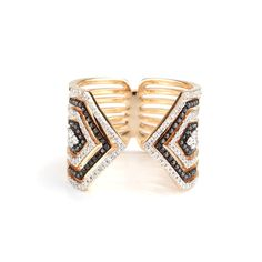 Vivianne Ring is an open claw ring with deco pave diamonds available in white gold, rose gold and yellow gold. Available in black and white diamonds or white diamonds only. Everyday Rings, White Gold, Black And White, Sapphire, Rose Gold, White Diamonds, Jewelry, Jewlery, Black N White