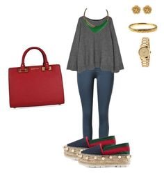 """""""Sin título #30"""" by amtorres08 on Polyvore featuring moda, The Row, Gucci, Miriam Haskell, Monet y MICHAEL Michael Kors"""
