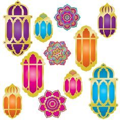 You get a Pack of 132 - Foil Lantern and Mandala Cutouts for this price. The Foil Lantern and Mandala Cutouts come and there are 12 packages in each case for a total of 132 per case! Arabian Nights Theme Party, Arabian Theme, Ramadan Crafts, Ramadan Decorations, Aladdin Party, Photo Balloons, Fun Signs, Detective, Paper Lanterns