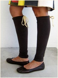 NEW...T Shirt Leg Warmers for Her / Chocolate Brown Espresso / by ohzie