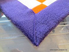 sew fleece blanket mitered corner | ... corner i then turn the blanket and beginning at the inside corner sew