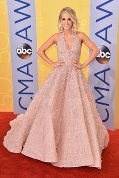 81bd9e9e5b2a4 Carrie Underwood - The 50th Annual CMA Awards - Arrivals Michael Cinco Gowns,  American Country