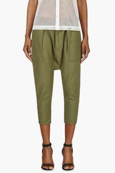 Nlst Green Sarouel Utility Pants for women | SSENSE
