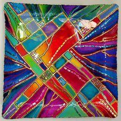 """""""Diamond Platter"""" 38"""" Cast Paper Platter by Brian Miller"""
