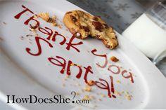 diy santa cookie plate