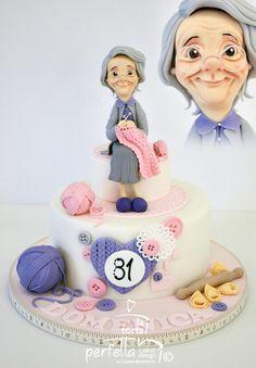 Knitting Cake by La torta perfetta