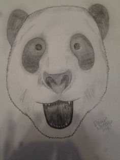 ∵Panda bears are unique animals∵ #drawing #pandabear #animal #art