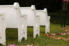 White Church Pews, Wedding Trends, 2013 Trends, A Chair Affair Blog