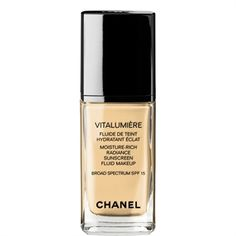 CHANEL - VITALUMIÈRE MOISTURE-RICH RADIANCE SUNSCREEN FLUID MAKEUP BROAD SPECTRUM SPF 15 More about
