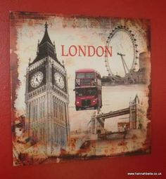 Big Ben & The London Eye Collage Canvas Print