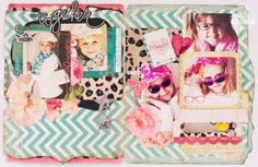 fun sugar chic project to highlight fashion styles of daughters. Memory file mini
