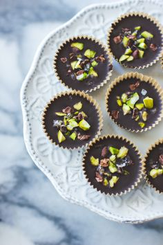 Raw Chocolate + Pistachio Butter Cups