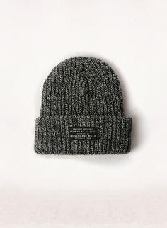 i+w marl knit watch cap
