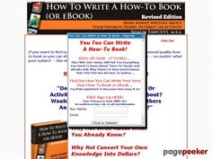 nice How To Write A How To Book (or eBook) - Make Money Writing About Your Favorite Hobby, Interest or Activity. A detailed step-by-step how-to manual on exactly how to structure, write, format and present a how-to book on any subject.