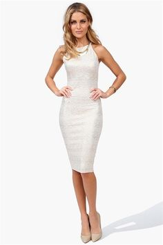 Taylor Pencil Dress in Gold
