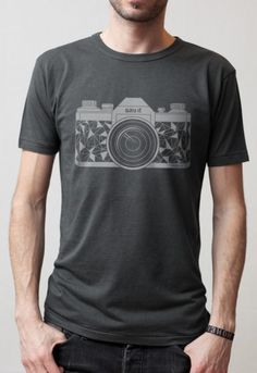 Camera T-shirt, by Say It Clothing Berlin - Hand printed with screen printing on organic cotton.