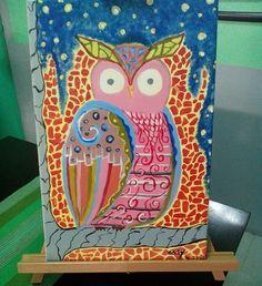 Owl acrylic painting