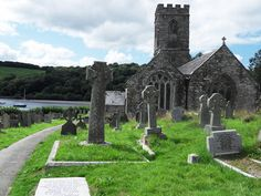 St Winnow church, Cornwall, England - the place where some of the Poldark series was set, based on the books by Winston Graham.