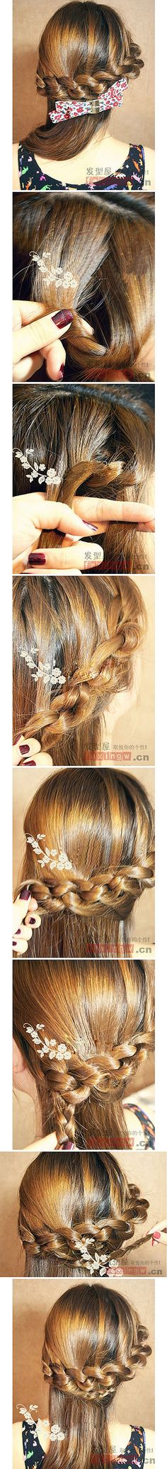How tO Style Half Up LacE KnOt Braid. YOu can alsO create a Bun fOr the rest Of the hair, I think it wOuld bE LOvEly tOO