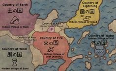 Image result for naruto village map