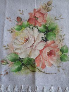 Risco do arranjo de rosas, botões e folhas. | meusite-1
