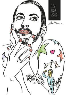 Marc Jacobs by Claudia Schembari, via Behance