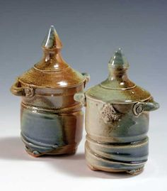 how to make stopperless salt and pepper shakers on the pottery wheel by Keith Phillips on Ceramic Arts Daily