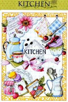 """Kitchen"" Counted cross stitch pattern book. Big chart"