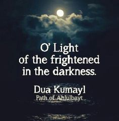 """""""Oh Light of the frightened in the darkness."""" Du'aa Kumail"""