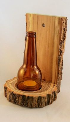 Wooden Tea Light Holder.
