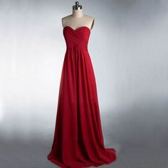 Long Bridesmaid Dress, Burgundy Bri
