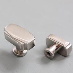 Art Deco Cabinet Knob - Nickel