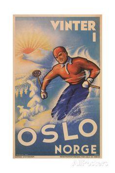 Skiing in Oslo, Norway Plakater hos AllPosters.no