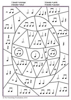 Easter Colour by Rhythm! (Set of – Musik Music Lessons For Kids, Music Lesson Plans, Music For Kids, Piano Lessons, Music Theory Worksheets, Easter Colors, Piano Teaching, Music Activities, Elementary Music