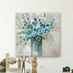'Sea Isle Wildflowers' Wrapped Canvas Painting on Canvas Size: H x W x D Painting Frames, Painting Prints, Canvas Prints, Art Prints, Painting Flowers, Acrylic Paintings, Watercolor Painting, Canvas Art, Canvas Online
