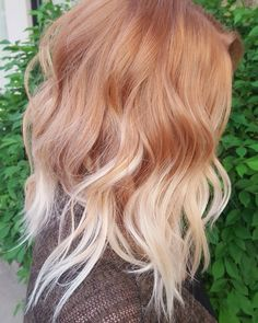 Quite possibly my favorite blonde ever. - All For Hair Color Balayage Strawberry Blonde Hair Color, Red Blonde Hair, Balayage Hair Blonde, Red Hair Color, Red Hair With Blonde Highlights, Copper Blonde Hair, Stawberry Blonde, Fall Blonde Hair Color, Strawberry Hair