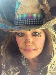 Sweet Scarecrow! Halloween Make Up Tutorial! - YouTube   Halloween ...