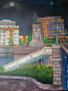 Sarlsfield Bridge 17.5 x 60 cm