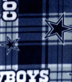 ac19d78a7 Dallas Cowboys NFL Plaid Fleece Fabric Dallas Cowboys Blanket