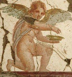 Fresco. Cupid from Pompeii.