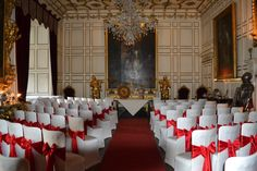 Red & Ivory Warwick Castle Ceremony Warwick Castle, Color Themes, Ivory, Wedding Photography, Table Decorations, Colour, Red, Furniture, Home Decor