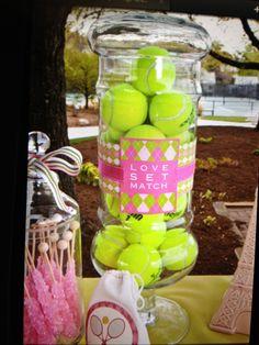 Tennis centerpiece
