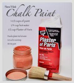 DIY/Homemade Chalk Paint Recipe - OPC The Better Half #DIY #furniture #PlasterOfParis